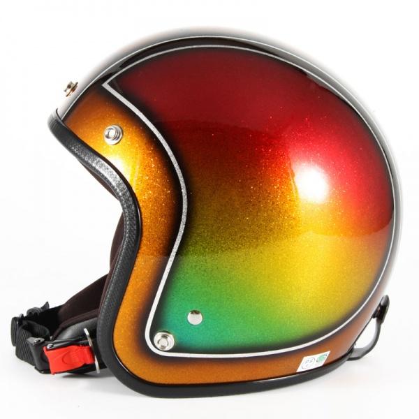 ジャムテックジャパン 72JAM JCP-49Metal Snake メタルスネーク ブラウン ジェットヘルメット [ブラウンシルバーフレークベースグロス仕上げ]FREEサイズ(57-60cm未満) メンズ レディース 兼用品 SG規格 全排気量対応