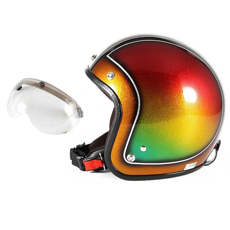 72JAM デザイナーズジェットヘルメット [JCP-49] 開閉シールド付き [APS-03]Metal Snake メタルスネーク ブラウン [ブラウンシルバーフレークベースグロス仕上げFREEサイズ(57-60cm未満) メンズ レディース 兼用品 SG規格 全排気量対応