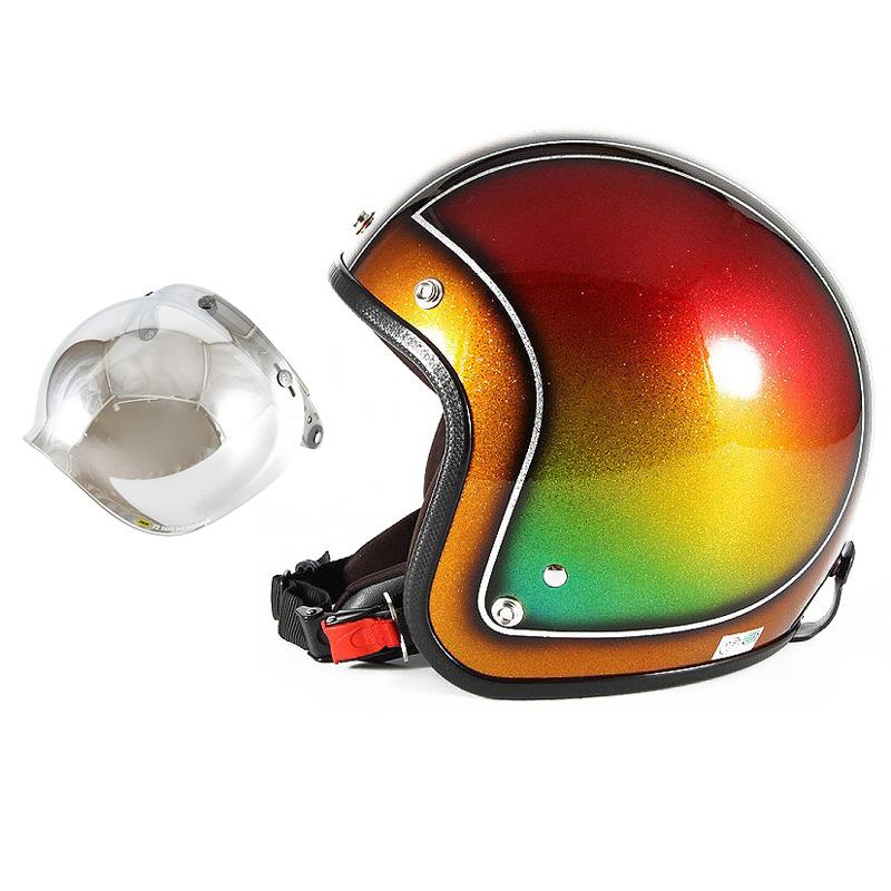 72JAM デザイナーズジェットヘルメット [JCP-49] 開閉シールド付き [JCBN-02]Metal Snake メタルスネーク ブラウン [ブラウンシルバーフレークベースグロス仕上げFREEサイズ(57-60cm未満) メンズ レディース 兼用品 SG規格 全排気量対応