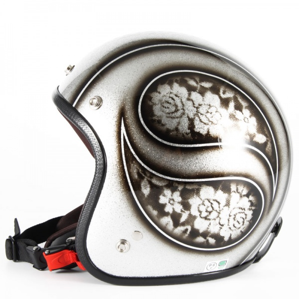 ジャムテックジャパン 72JAM JCP-52ROSA ローサ シルバー レディース ジェットヘルメット [シルバーフレークベースグロス仕上げ]レディースサイズ(55-57cm未満) レディース SG規格 全排気量対応