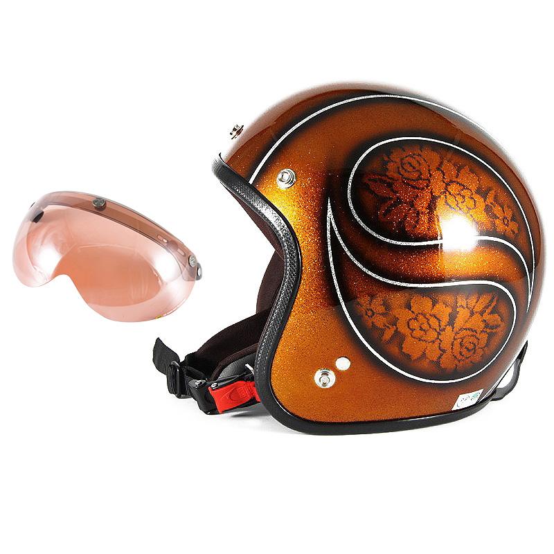 72JAM デザイナーズジェットヘルメット [JCP-53] 開閉シールド付き [APS-05]ROSA ローサ ブラウン レディース [ブラウンフレークベースグロス仕上げ]レディースサイズ(55-57cm未満) レディース SG規格 全排気量対応