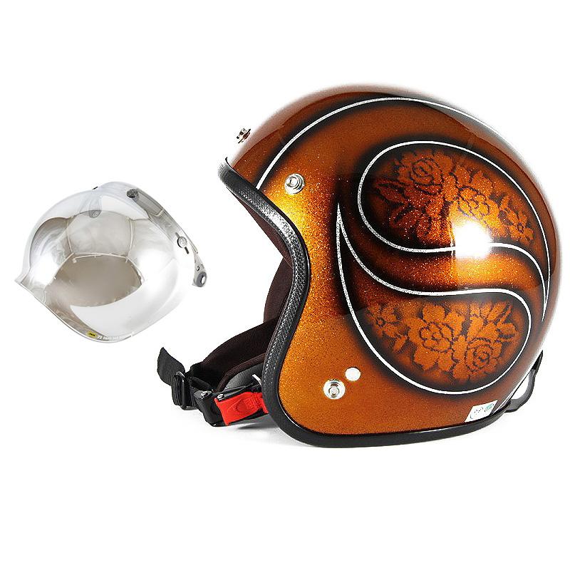 72JAM デザイナーズジェットヘルメット [JCP-53] 開閉シールド付き [JCBN-02]ROSA ローサ ブラウン レディース [ブラウンフレークベースグロス仕上げ]レディースサイズ(55-57cm未満) レディース SG規格 全排気量対応