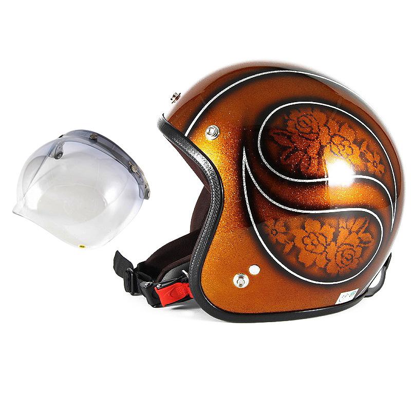 72JAM デザイナーズジェットヘルメット [JCP-53] 開閉シールド付き [JCBN-05]ROSA ローサ ブラウン レディース [ブラウンフレークベースグロス仕上げ]レディースサイズ(55-57cm未満) レディース SG規格 全排気量対応
