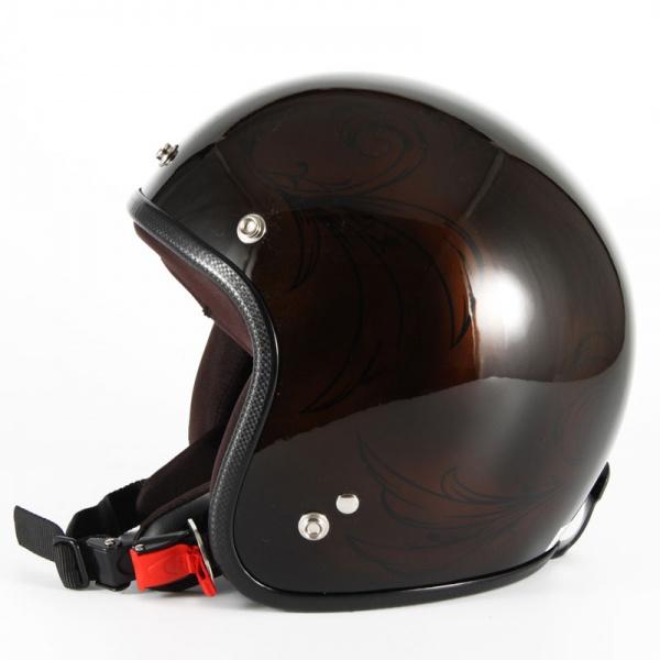 ジャムテックジャパン 72JAM JCP-56Leaf リーフ ブラウン/ブラック レディース ジェットヘルメット [ブラウン/ブラックグロス仕上げ]レディースサイズ(55-57cm未満) レディース SG規格 全排気量対応
