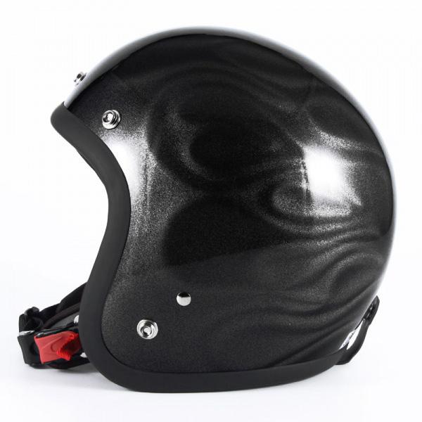 72JAM デザイナーズジェットヘルメット [JG-14]GHOST FLAME ゴーストフレイム シルバー [シルバーグロス仕上げ]FREEサイズ(57-60cm未満) メンズ レディース 兼用品 SG規格 全排気量対応