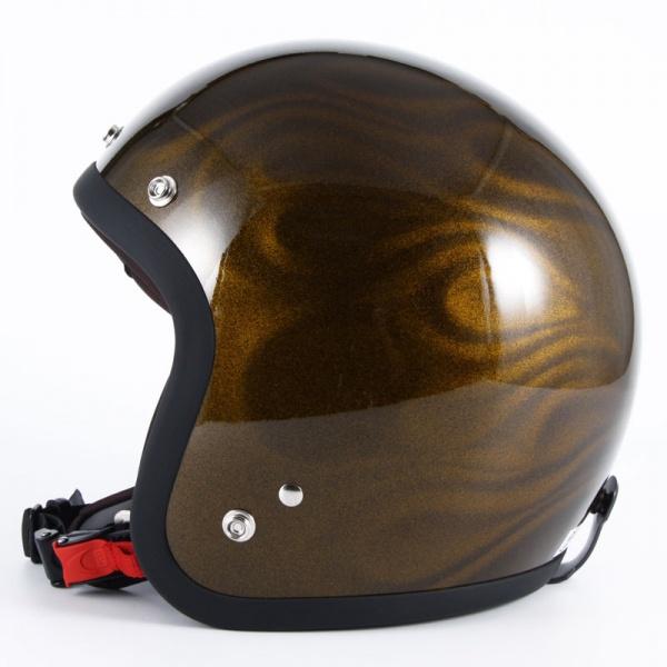 72JAM デザイナーズジェットヘルメット [JG-15]GHOST FLAME ゴーストフレイム ゴールド [ゴールドグロス仕上げ]FREEサイズ(57-60cm未満) メンズ レディース 兼用品 SG規格 全排気量対応