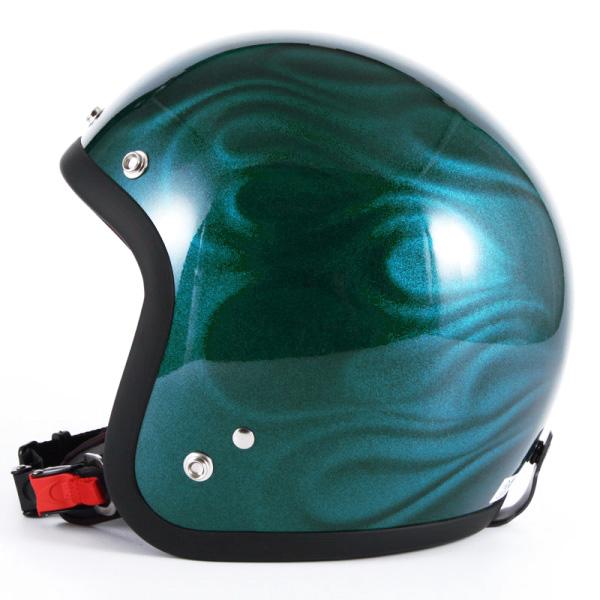 72JAM デザイナーズジェットヘルメット [JG-16]GHOST FLAME ゴーストフレイム ブルー [ブルーグロス仕上げ]FREEサイズ(57-60cm未満) メンズ レディース 兼用品 SG規格 全排気量対応