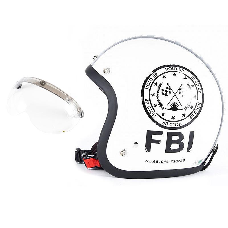 72JAM デザイナーズジェットヘルメット [JJ-02] 開閉シールド付き [APS-01]F.B.I. ホワイト [パールゴールドホワイトベースグロス仕上げ]FREEサイズ(57-60cm未満) メンズ レディース 兼用品 SG規格 全排気量対応