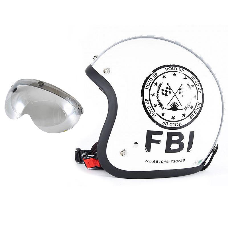 72JAM デザイナーズジェットヘルメット [JJ-02] 開閉シールド付き [APS-04]F.B.I. ホワイト [パールゴールドホワイトベースグロス仕上げ]FREEサイズ(57-60cm未満) メンズ レディース 兼用品 SG規格 全排気量対応