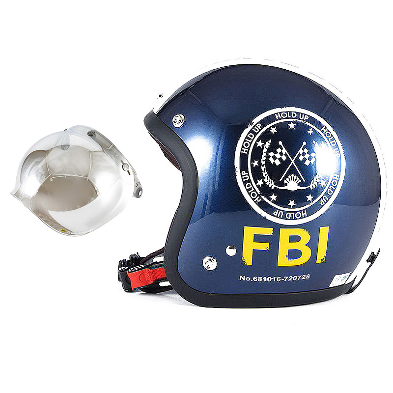 72JAM デザイナーズジェットヘルメット [JJ-02B] 開閉シールド付き [JCBN-02]ジャムテックジャパン 72JAM JJ-02BF.B.I. ブラック [ブルーブラックベースグロス仕上げ]FREEサイズ(57-60cm未満) メンズ レディース 兼用品 SG規格 全排気量対応