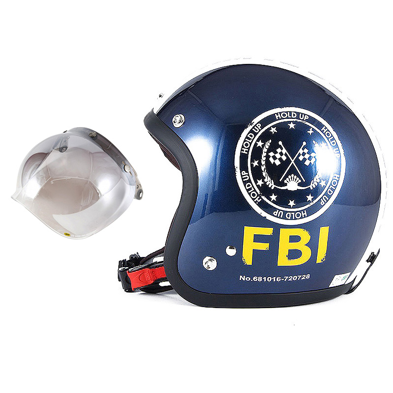 72JAM デザイナーズジェットヘルメット [JJ-02B] 開閉シールド付き [JCBN-03]ジャムテックジャパン 72JAM JJ-02BF.B.I. ブラック [ブルーブラックベースグロス仕上げ]FREEサイズ(57-60cm未満) メンズ レディース 兼用品 SG規格 全排気量対応