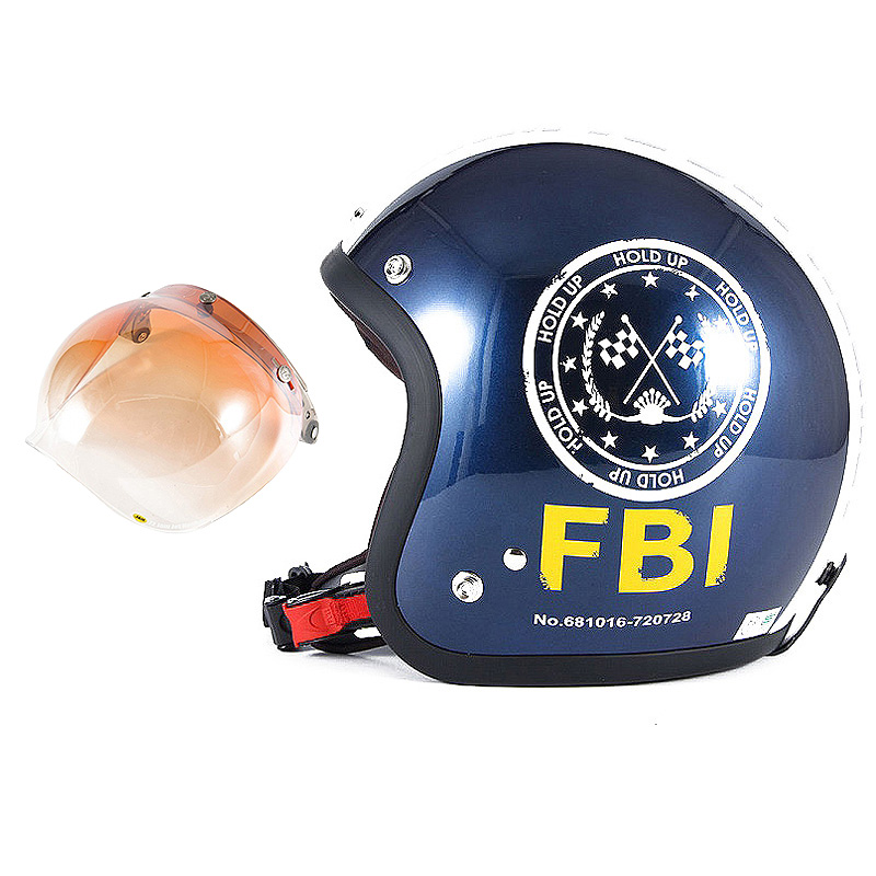 72JAM デザイナーズジェットヘルメット [JJ-02B] 開閉シールド付き [JCBN-04]ジャムテックジャパン 72JAM JJ-02BF.B.I. ブラック [ブルーブラックベースグロス仕上げ]FREEサイズ(57-60cm未満) メンズ レディース 兼用品 SG規格 全排気量対応