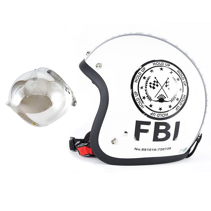 72JAM デザイナーズジェットヘルメット [JJ-02] 開閉シールド付き [JCBN-02]F.B.I. ホワイト [パールゴールドホワイトベースグロス仕上げ]FREEサイズ(57-60cm未満) メンズ レディース 兼用品 SG規格 全排気量対応