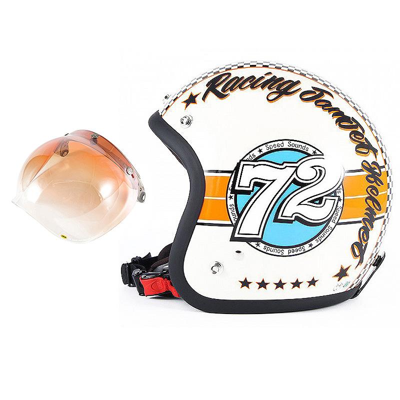 72JAM デザイナーズジェットヘルメット [JJ-04] 開閉シールド付き [JCBN-04]SPEED SOUND スピードサウンド アイボリー [アイボリーベースグロス仕上げ]FREEサイズ(57-60cm未満) メンズ レディース 兼用品 SG規格 全排気量対応