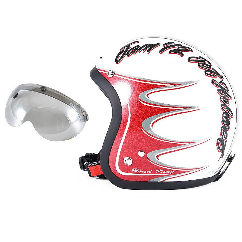 72JAM デザイナーズジェットヘルメット [JJ-08] 開閉シールド付き [APS-04]RODKIN ロドキン ホワイト [パールゴールドホワイトベースグロス仕上げ]FREEサイズ(57-60cm未満) メンズ レディース 兼用品 SG規格 全排気量対応