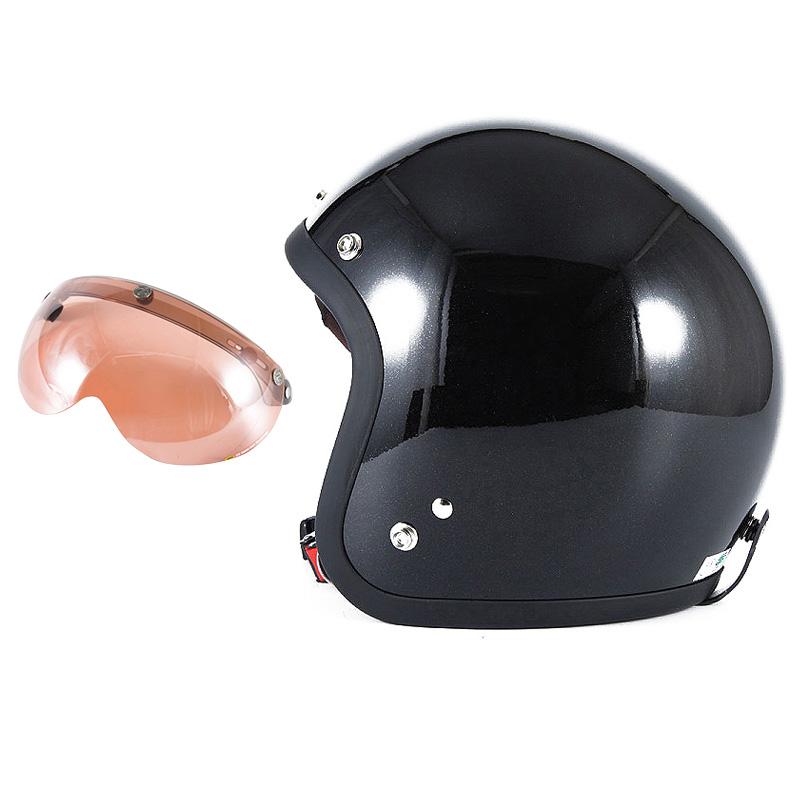 72JAM デザイナーズジェットヘルメット [JJ-10] 開閉シールド付き [APS-05]VIVID BLACK ブラック [ガラスフレークブラックグロス仕上げ]FREEサイズ(57-60cm未満) メンズ レディース 兼用品 SG規格 全排気量対応