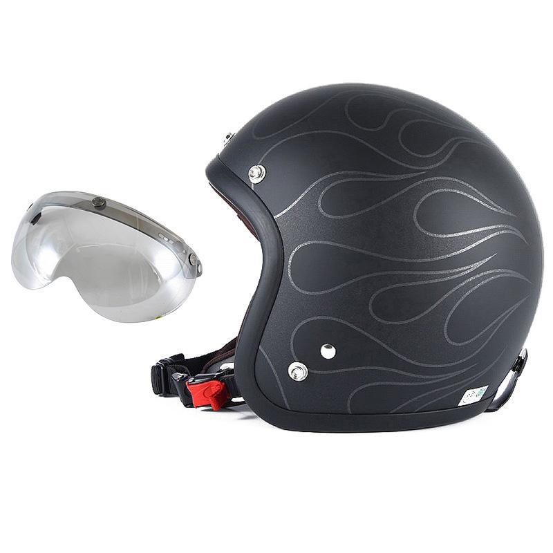 72JAM デザイナーズジェットヘルメット [JJ-16] 開閉シールド付き [APS-04]STEALTH ステルス マットブラック [ガラスフレークブラックベースマット仕上げ]2サイズ メンズ レディース 兼用品 SG規格 全排気量対応