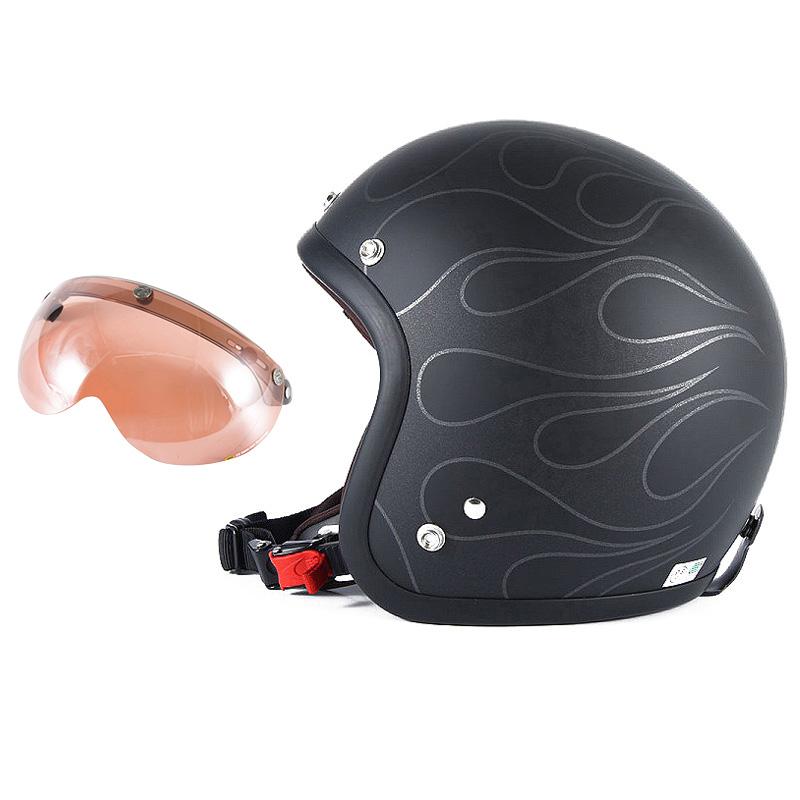 72JAM デザイナーズジェットヘルメット [JJ-16] 開閉シールド付き [APS-05]STEALTH ステルス マットブラック [ガラスフレークブラックベースマット仕上げ]2サイズ メンズ レディース 兼用品 SG規格 全排気量対応