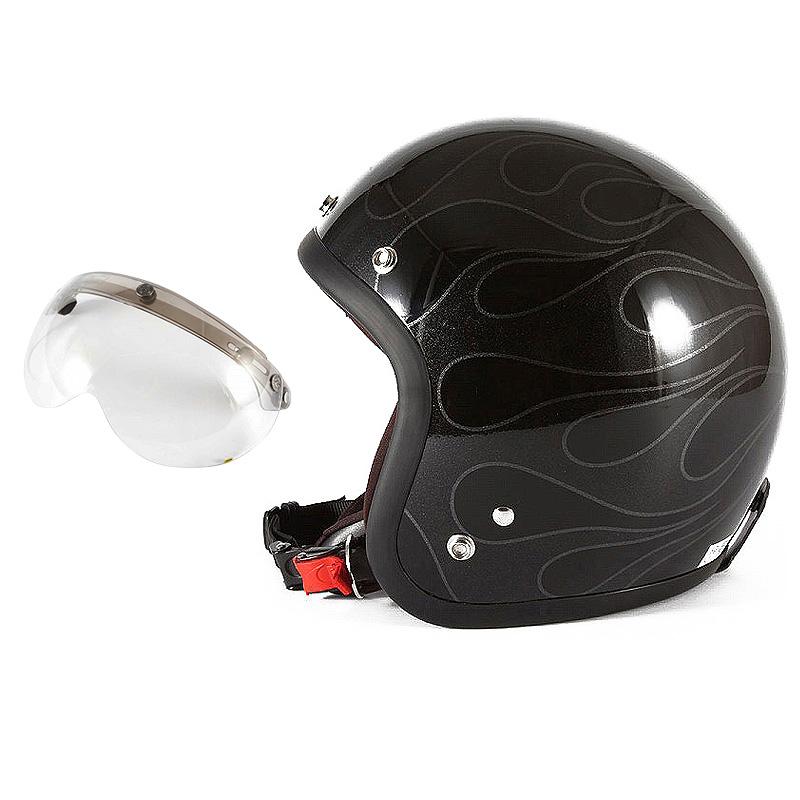 72JAM デザイナーズジェットヘルメット [WEB-07] 開閉シールド付き [APS-03]STEALTH ステルス ブラック 限定カラー [ガラスフレークブラックベースグロス仕上げ]FREEサイズ(57-60cm未満) メンズ レディース 兼用品 SG規格 全排気量対応