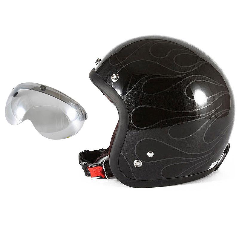 72JAM デザイナーズジェットヘルメット [WEB-07] 開閉シールド付き [APS-04]STEALTH ステルス ブラック 限定カラー [ガラスフレークブラックベースグロス仕上げ]FREEサイズ(57-60cm未満) メンズ レディース 兼用品 SG規格 全排気量対応