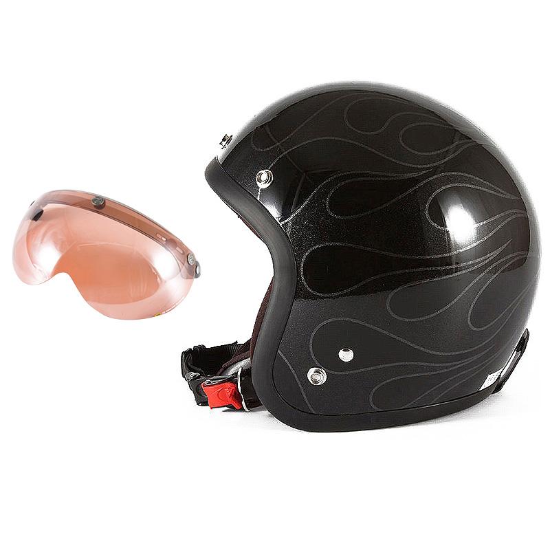 72JAM デザイナーズジェットヘルメット [WEB-07] 開閉シールド付き [APS-05]STEALTH ステルス ブラック 限定カラー [ガラスフレークブラックベースグロス仕上げ]FREEサイズ(57-60cm未満) メンズ レディース 兼用品 SG規格 全排気量対応