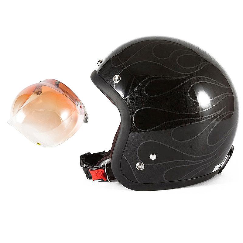 72JAM デザイナーズジェットヘルメット [WEB-07] 開閉シールド付き [JCBN-04]STEALTH ステルス ブラック 限定カラー [ガラスフレークブラックベースグロス仕上げ]FREEサイズ(57-60cm未満) メンズ レディース 兼用品 SG規格 全排気量対応