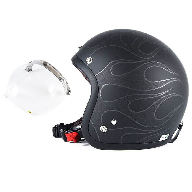 72JAM デザイナーズジェットヘルメット [JJ-16] 開閉シールド付き [JCBN-01]STEALTH ステルス マットブラック [ガラスフレークブラックベースマット仕上げ]2サイズ メンズ レディース 兼用品 SG規格 全排気量対応