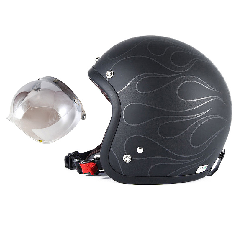 72JAM デザイナーズジェットヘルメット [JJ-16] 開閉シールド付き [JCBN-03]STEALTH ステルス マットブラック [ガラスフレークブラックベースマット仕上げ]2サイズ メンズ レディース 兼用品 SG規格 全排気量対応