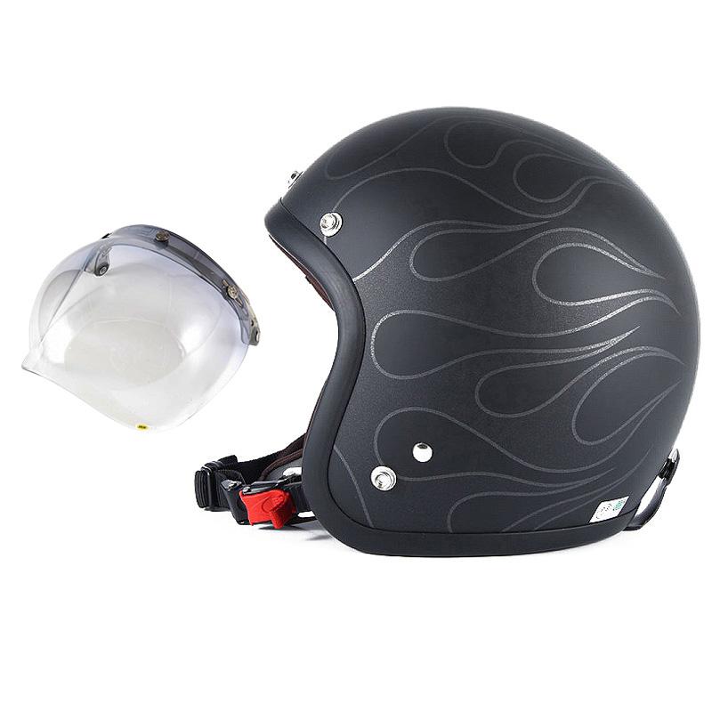 72JAM デザイナーズジェットヘルメット [JJ-16] 開閉シールド付き [JCBN-05]STEALTH ステルス マットブラック [ガラスフレークブラックベースマット仕上げ]2サイズ メンズ レディース 兼用品 SG規格 全排気量対応