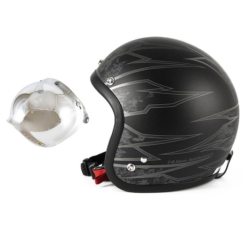 72JAM デザイナーズジェットヘルメット [JJ-18M] 開閉シールド付き [JCBN-02]ジャムテックジャパン 72JAM JJ-18MSTING スティング マットブラック [ブラックベースマット仕上げ]FREEサイズ(57-60cm未満) メンズ レディース 兼用品 SG規格 全排気量対応