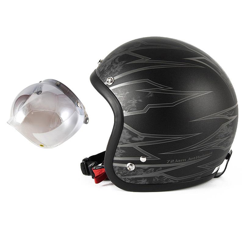 72JAM デザイナーズジェットヘルメット [JJ-18M] 開閉シールド付き [JCBN-03]ジャムテックジャパン 72JAM JJ-18MSTING スティング マットブラック [ブラックベースマット仕上げ]FREEサイズ(57-60cm未満) メンズ レディース 兼用品 SG規格 全排気量対応