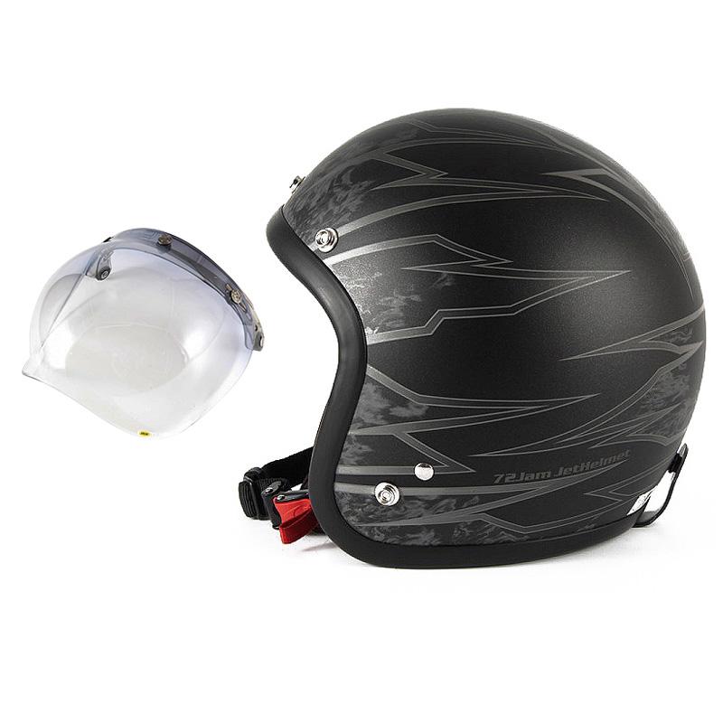 72JAM デザイナーズジェットヘルメット [JJ-18M] 開閉シールド付き [JCBN-05]ジャムテックジャパン 72JAM JJ-18MSTING スティング マットブラック [ブラックベースマット仕上げ]FREEサイズ(57-60cm未満) メンズ レディース 兼用品 SG規格 全排気量対応