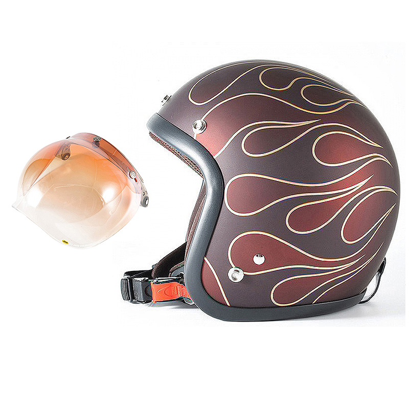 72JAM デザイナーズジェットヘルメット [JJ-22] 開閉シールド付き [JCBN-04]STEALTH ステルス レッド [ガラスフレークレッドベースマット仕上げ]2サイズ メンズ レディース 兼用品 SG規格 全排気量対応