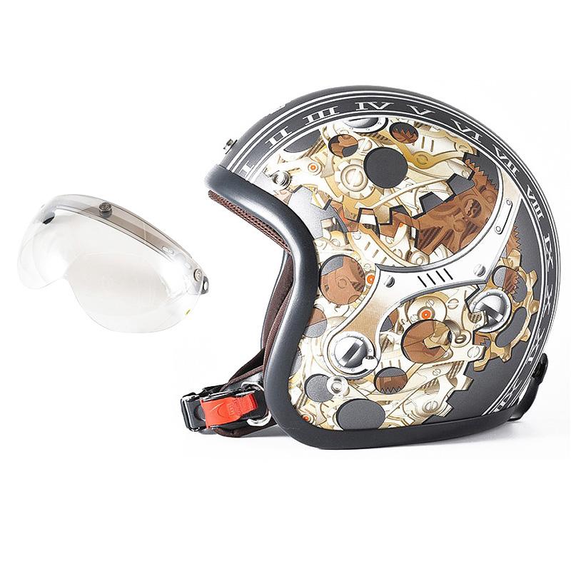 72JAM デザイナーズジェットヘルメット [JJ-25] 開閉シールド付き [APS-02]CHRONO クロノ ガンメタ [ガンメタベース マット仕上げ]FREEサイズ(57-60cm未満) メンズ レディース 兼用品 SG規格 全排気量対応