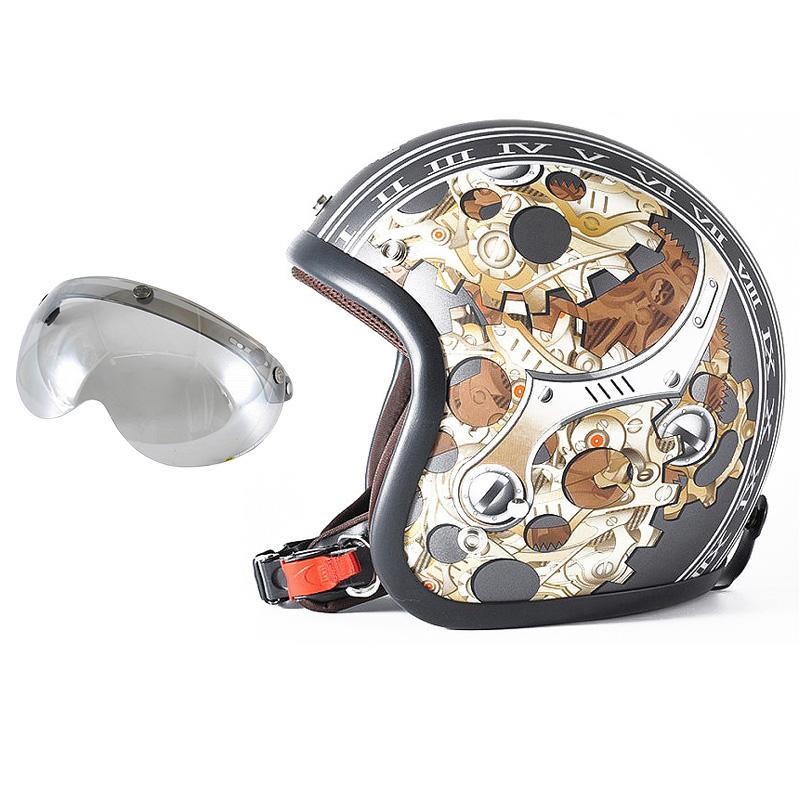 72JAM デザイナーズジェットヘルメット [JJ-25] 開閉シールド付き [APS-04]CHRONO クロノ ガンメタ [ガンメタベース マット仕上げ]FREEサイズ(57-60cm未満) メンズ レディース 兼用品 SG規格 全排気量対応