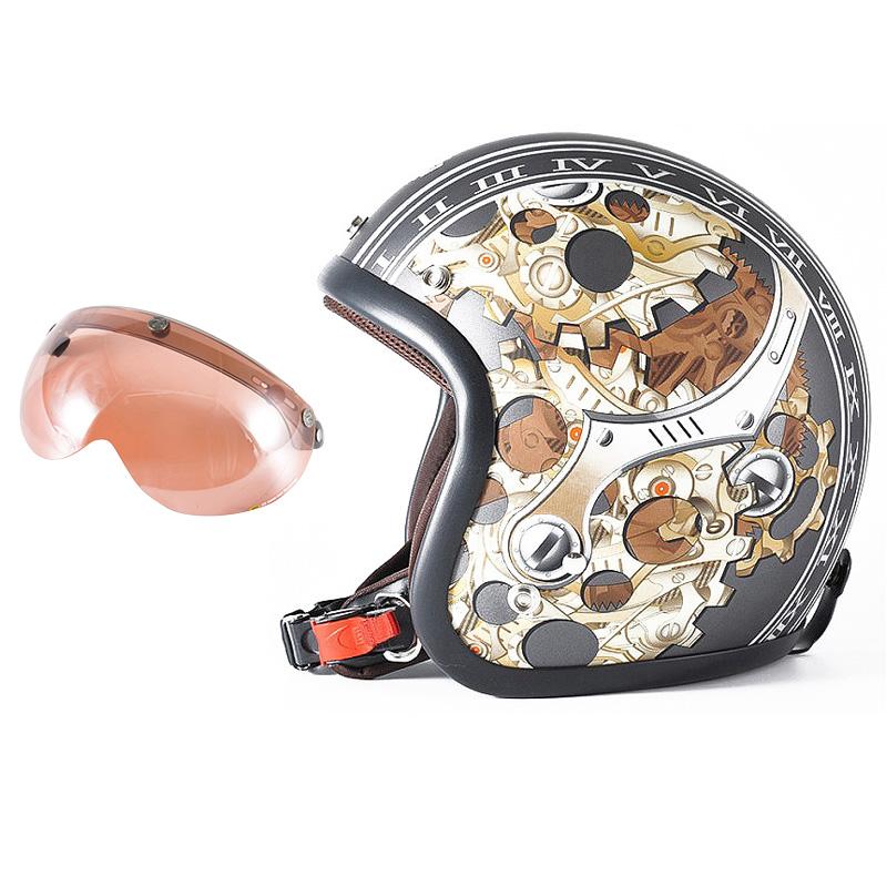 72JAM デザイナーズジェットヘルメット [JJ-25] 開閉シールド付き [APS-05]CHRONO クロノ ガンメタ [ガンメタベース マット仕上げ]FREEサイズ(57-60cm未満) メンズ レディース 兼用品 SG規格 全排気量対応