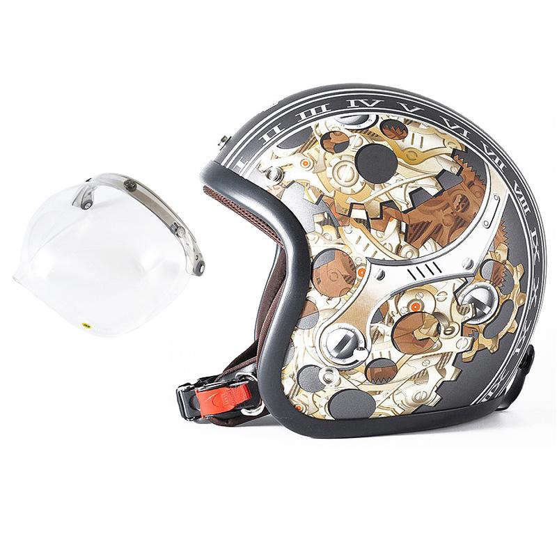 72JAM デザイナーズジェットヘルメット [JJ-25] 開閉シールド付き [JCBN-01]CHRONO クロノ ガンメタ [ガンメタベース マット仕上げ]FREEサイズ(57-60cm未満) メンズ レディース 兼用品 SG規格 全排気量対応