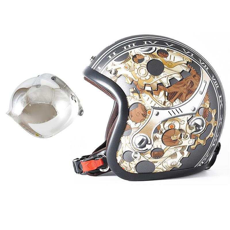 72JAM デザイナーズジェットヘルメット [JJ-25] 開閉シールド付き [JCBN-02]CHRONO クロノ ガンメタ [ガンメタベース マット仕上げ]FREEサイズ(57-60cm未満) メンズ レディース 兼用品 SG規格 全排気量対応