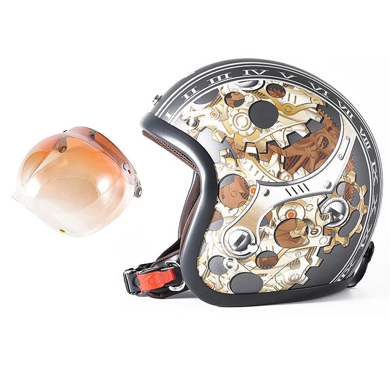 72JAM デザイナーズジェットヘルメット [JJ-25] 開閉シールド付き [JCBN-04]CHRONO クロノ ガンメタ [ガンメタベース マット仕上げ]FREEサイズ(57-60cm未満) メンズ レディース 兼用品 SG規格 全排気量対応