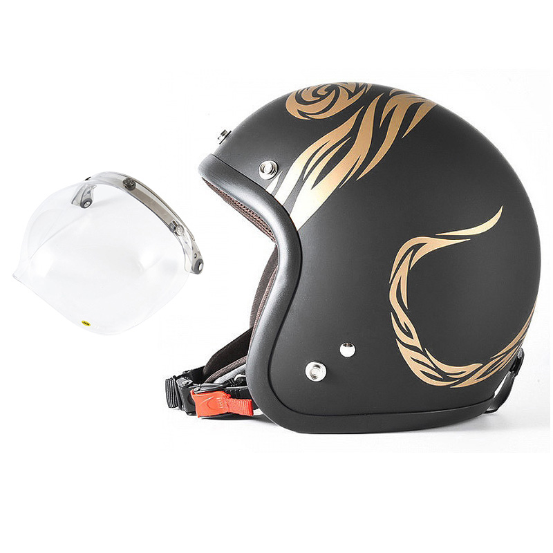 72JAM デザイナーズジェットヘルメット [JJ-26] 開閉シールド付き [JCBN-01]NATURAL LAW ナチュラルロー ブラック [ブラックベース マット仕上げ]FREEサイズ(57-60cm未満) メンズ レディース 兼用品 SG規格 全排気量対応