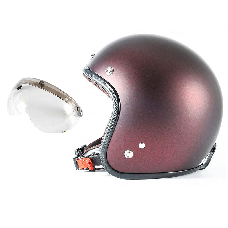 72JAM デザイナーズジェットヘルメット [JP-07] 開閉シールド付き [APS-03]TWILIGHT トワイライト レッド [メタリックブラックベース キャンディーレッド マット仕上げ]FREEサイズ(57-60cm未満) メンズ レディース 兼用品 SG規格 全排気量対応