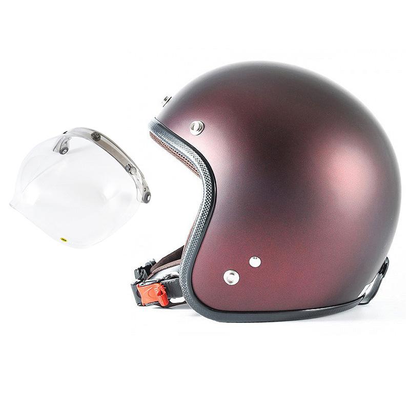 72JAM デザイナーズジェットヘルメット [JP-07] 開閉シールド付き [JCBN-01]TWILIGHT トワイライト レッド [メタリックブラックベース キャンディーレッド マット仕上げ]FREEサイズ(57-60cm未満) メンズ レディース 兼用品 SG規格 全排気量対応