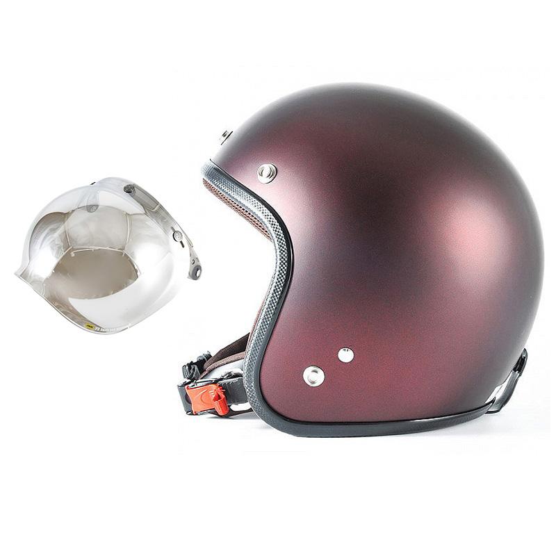 72JAM デザイナーズジェットヘルメット [JP-07] 開閉シールド付き [JCBN-02]TWILIGHT トワイライト レッド [メタリックブラックベース キャンディーレッド マット仕上げ]FREEサイズ(57-60cm未満) メンズ レディース 兼用品 SG規格 全排気量対応