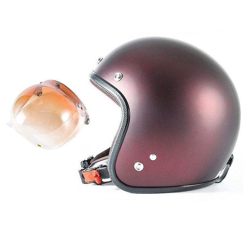 72JAM デザイナーズジェットヘルメット [JP-07] 開閉シールド付き [JCBN-04]TWILIGHT トワイライト レッド [メタリックブラックベース キャンディーレッド マット仕上げ]FREEサイズ(57-60cm未満) メンズ レディース 兼用品 SG規格 全排気量対応