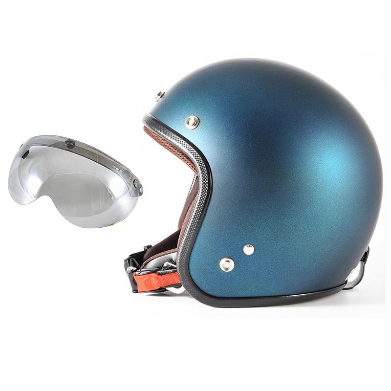 72JAM デザイナーズジェットヘルメット [JP-08] 開閉シールド付き [APS-04]TWILIGHT トワイライト ブルー [メタリックブラックベース キャンディーブルー マット仕上げ]FREEサイズ(57-60cm未満) メンズ レディース 兼用品 SG規格 全排気量対応