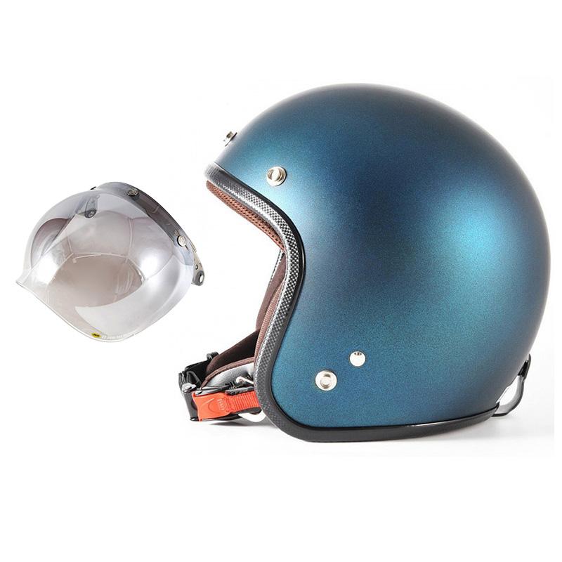 72JAM デザイナーズジェットヘルメット [JP-08] 開閉シールド付き [JCBN-03]TWILIGHT トワイライト ブルー [メタリックブラックベース キャンディーブルー マット仕上げ]FREEサイズ(57-60cm未満) メンズ レディース 兼用品 SG規格 全排気量対応