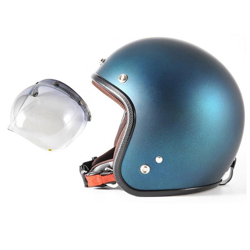 72JAM デザイナーズジェットヘルメット [JP-08] 開閉シールド付き [JCBN-05]TWILIGHT トワイライト ブルー [メタリックブラックベース キャンディーブルー マット仕上げ]FREEサイズ(57-60cm未満) メンズ レディース 兼用品 SG規格 全排気量対応