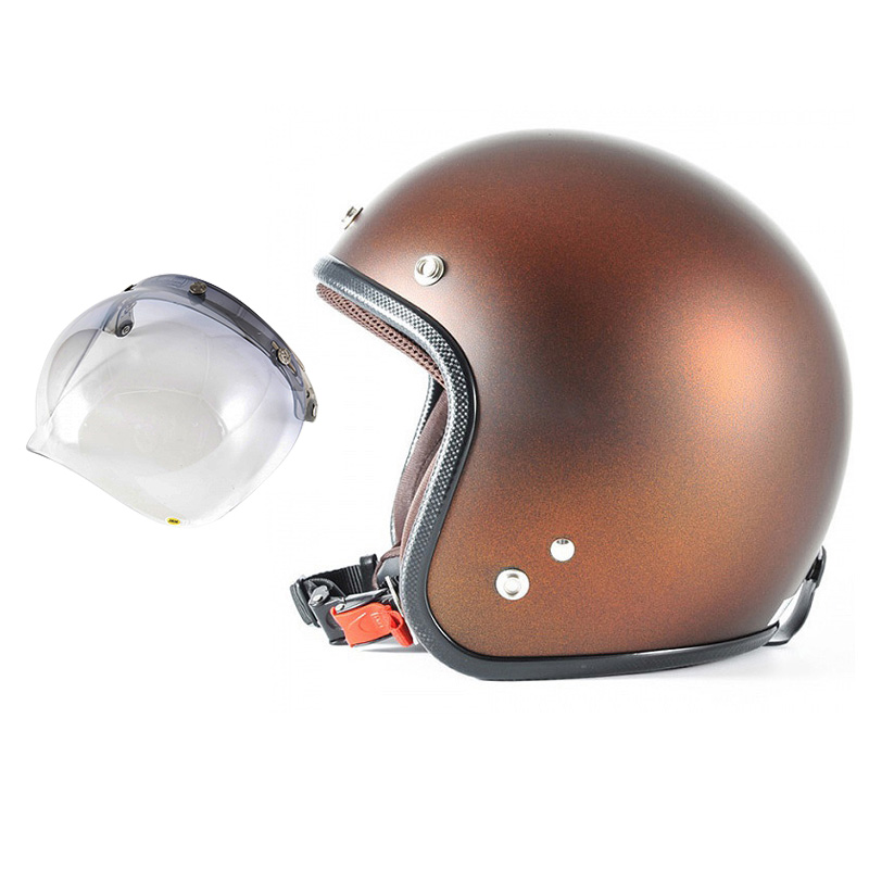 72JAM デザイナーズジェットヘルメット [JP-09] 開閉シールド付き [JCBN-05]TWILIGHT トワイライト オレンジ [メタリックブラックベース キャンディーオレンジ マット仕上げ]FREEサイズ(57-60cm未満) メンズ レディース 兼用品 SG規格 全排気量対応