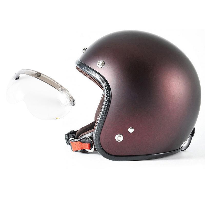 72JAM デザイナーズジェットヘルメット [JP-10] 開閉シールド付き [APS-01]TWILIGHT トワイライト+ レッド [メタリックブラックベース キャンディーレッド マット仕上げ]FREEサイズ(57-60cm未満) メンズ レディース 兼用品 SG規格 全排気量対応