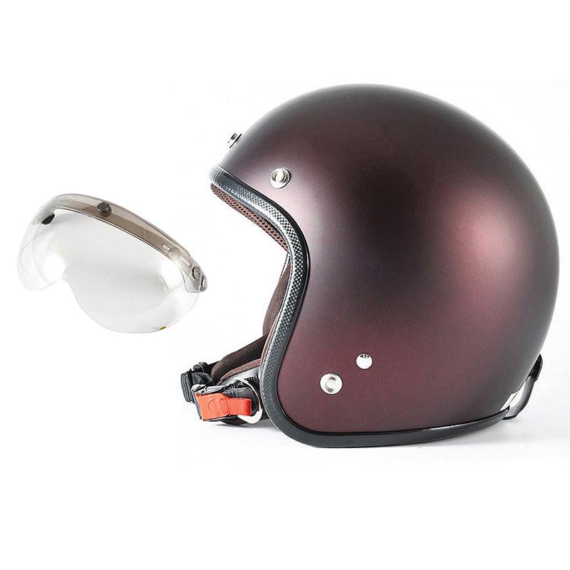 72JAM デザイナーズジェットヘルメット [JP-10] 開閉シールド付き [APS-03]TWILIGHT トワイライト+ レッド [メタリックブラックベース キャンディーレッド マット仕上げ]FREEサイズ(57-60cm未満) メンズ レディース 兼用品 SG規格 全排気量対応